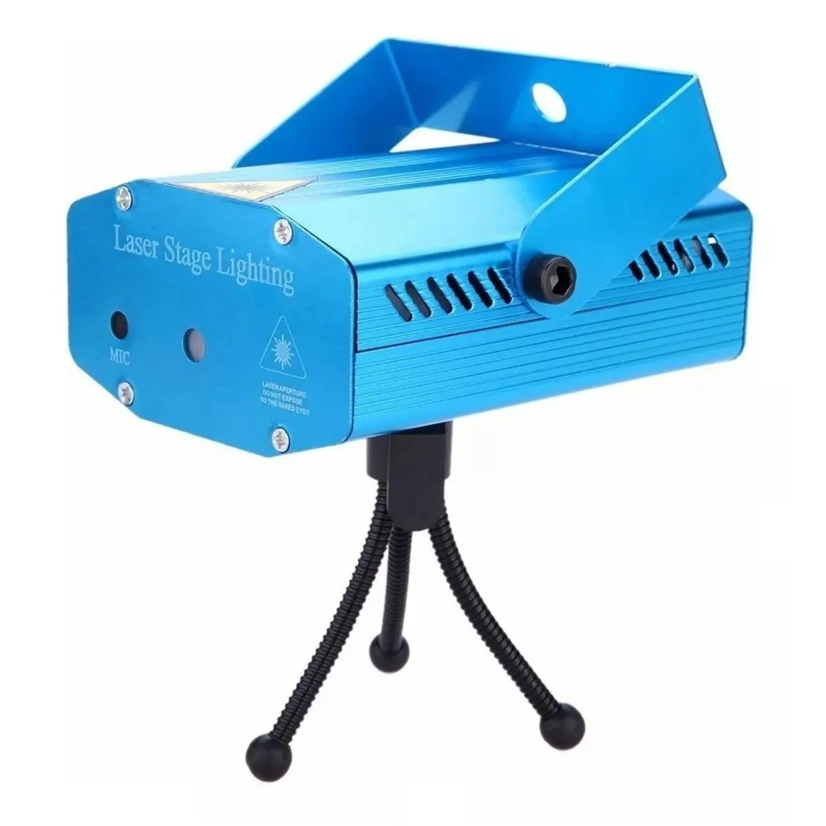Mini Laser Projetor Holográfico Stage Lighting Preto E Azul - SD-107