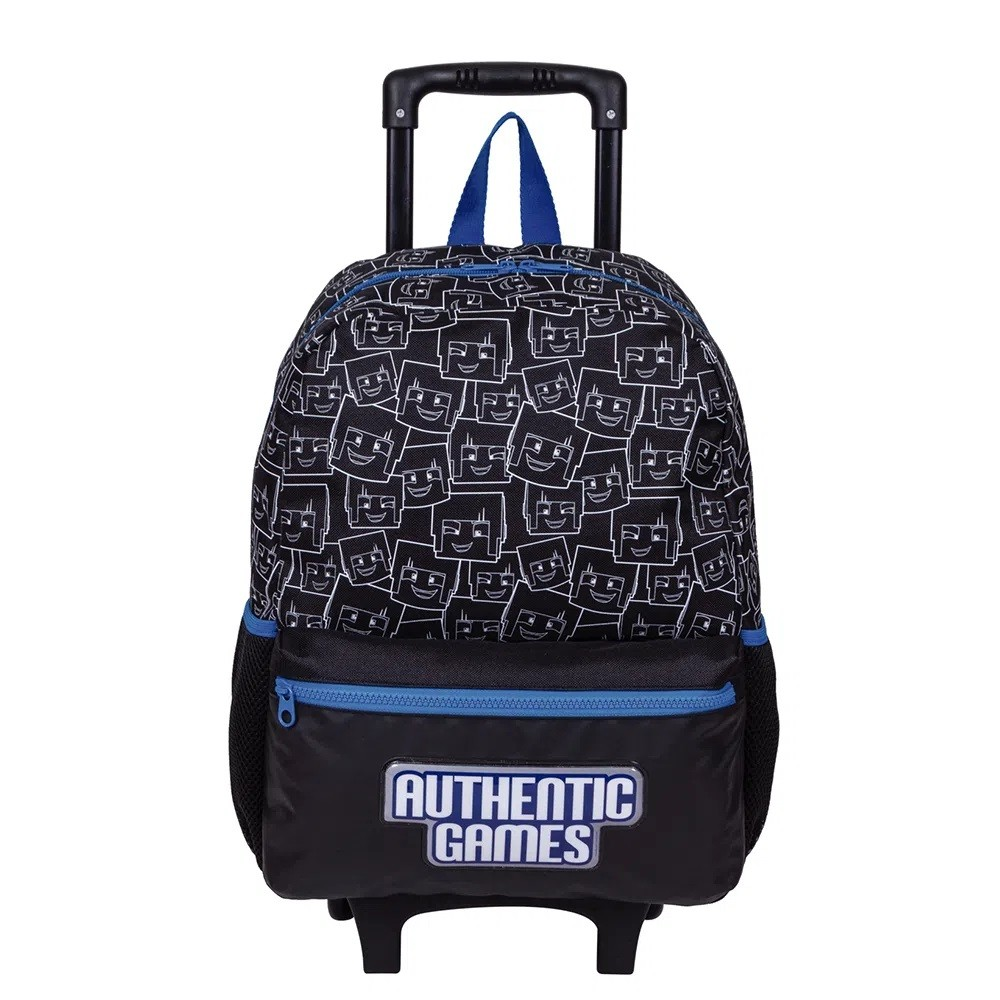 Mochila Escolar Grande Authentic Games 21M Plus Com Rodinhas - 065763-00