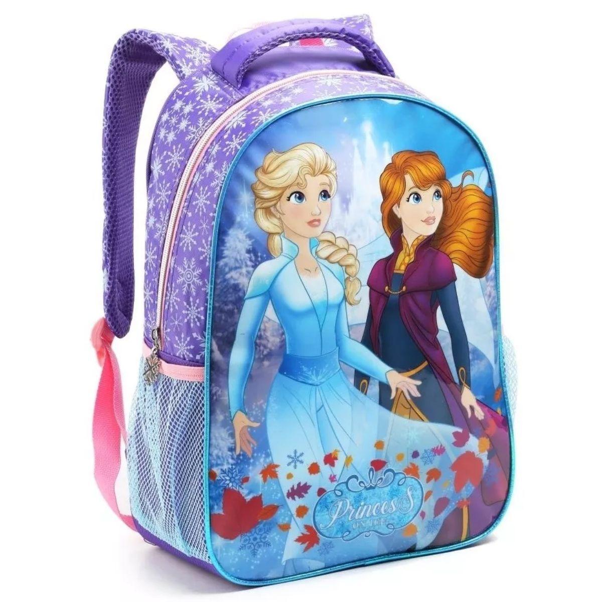 Mochila Infantil Feminina Princess On Ice Escolar Seanite - MI14545
