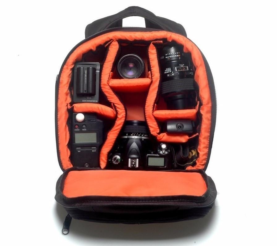 Mochila Para Câmera Profissional Com Suporte Tripé - VMB II