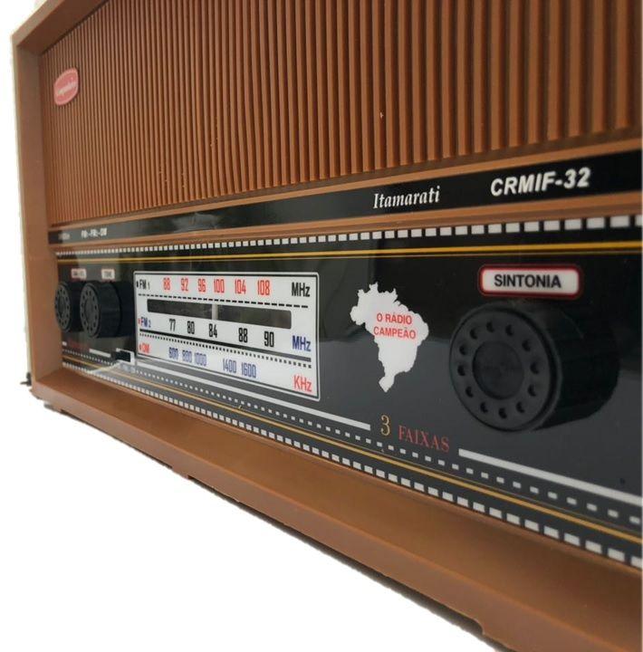 Radio Companheiro em Madeira Vintage Retrô Itamarati 3 Faixas AM FM e FMW - CRMIF-31