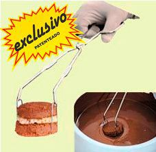 Panela Derretedeira De Chocolate Elétrica Para Até 7kg Galizzi Marrom 110V + Garfo Pegue Firme Alumínio