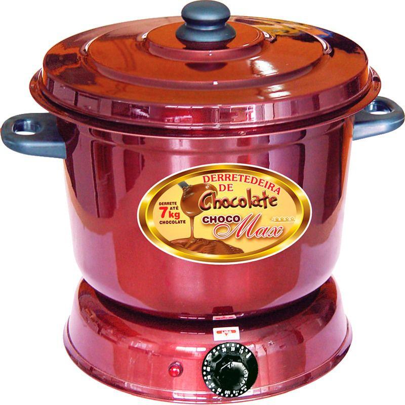 Panela Derretedeira De Chocolate Elétrica Para Até 7kg Galizzi - Marrom 220V + Garfo Pegue firme