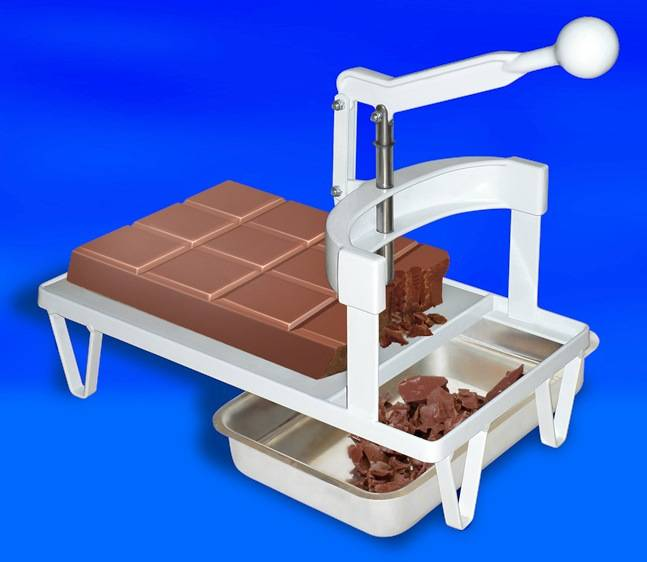 Panela Derretedeira De Chocolate Elétrica Para Até 7kg Galizzi - Marrom 220V + Picador e Triturador de Chocolate em Barra Manual Para Derretimento