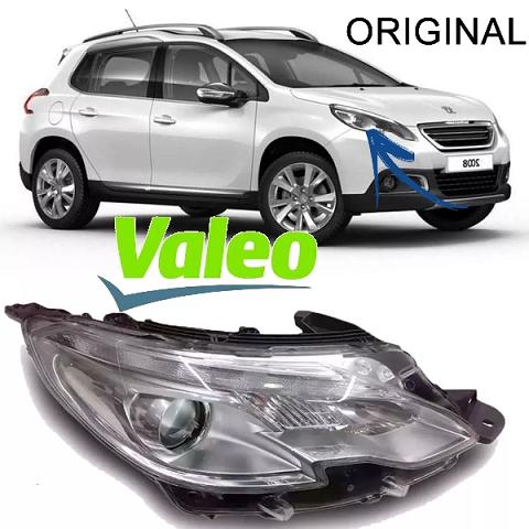 Par De Farol Dianteiro Peugeot 2008 Led 2014 A 2016 Original Valeo - DIREITO E ESQUERDO