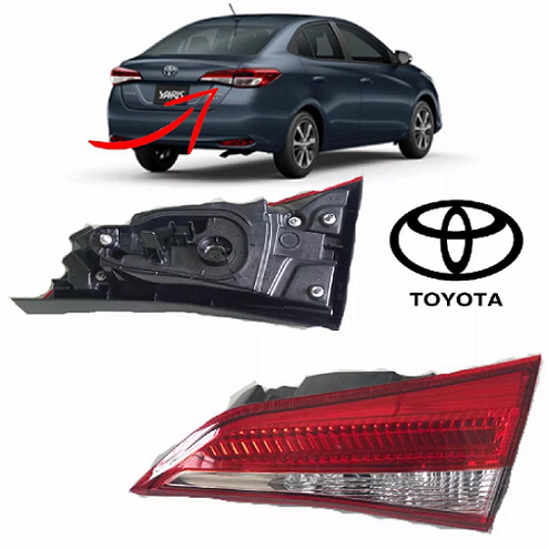 Par De Lanterna Toyota Yaris Sedan 2018 2019 Porta Malas Led Original Koito - DIREITO E ESQUERDO
