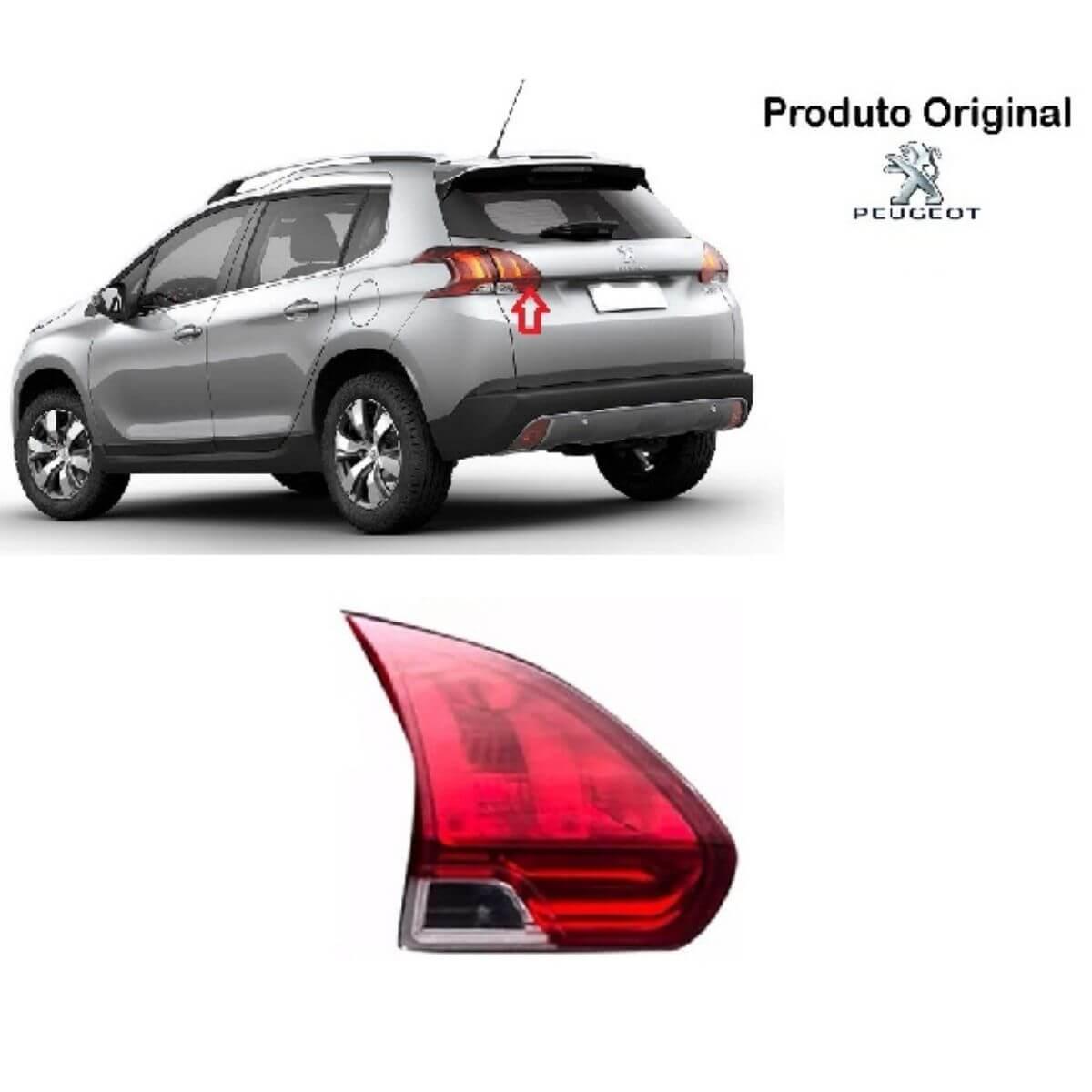 Par De Lanterna Traseira Peugeot 2008 Led Porta Mala 2014 A 2016 Original Valeo - DIREITO E ESQUERDO