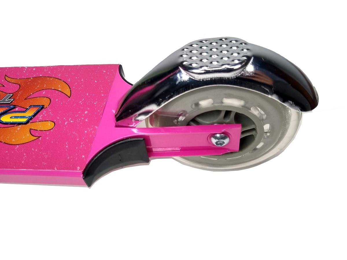 Patinete Em Alumínio Lotus Rosa Com Amortecedor e Freio - TR-1018 Novo