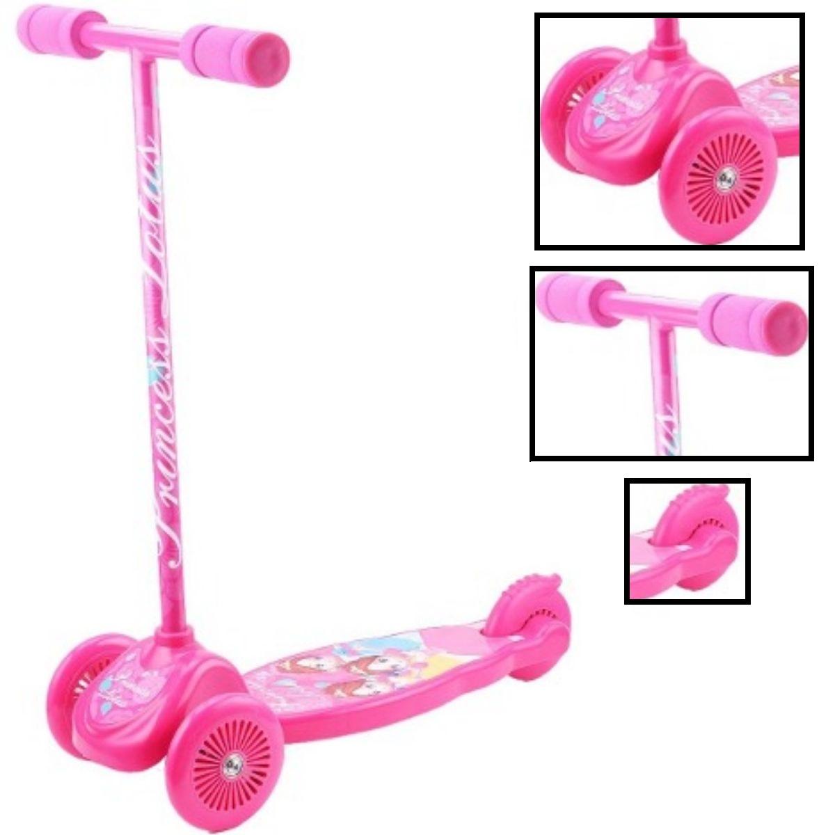 Patinete Infantil Rosa Com 3 rodas - WYT3-05RO-LX