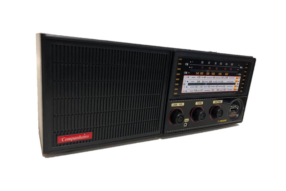 Rádio Companheiro Cabeceira com FM estendida e Entrada Auxiliar para MP3/Ipod 7 Faixas - CRC-71
