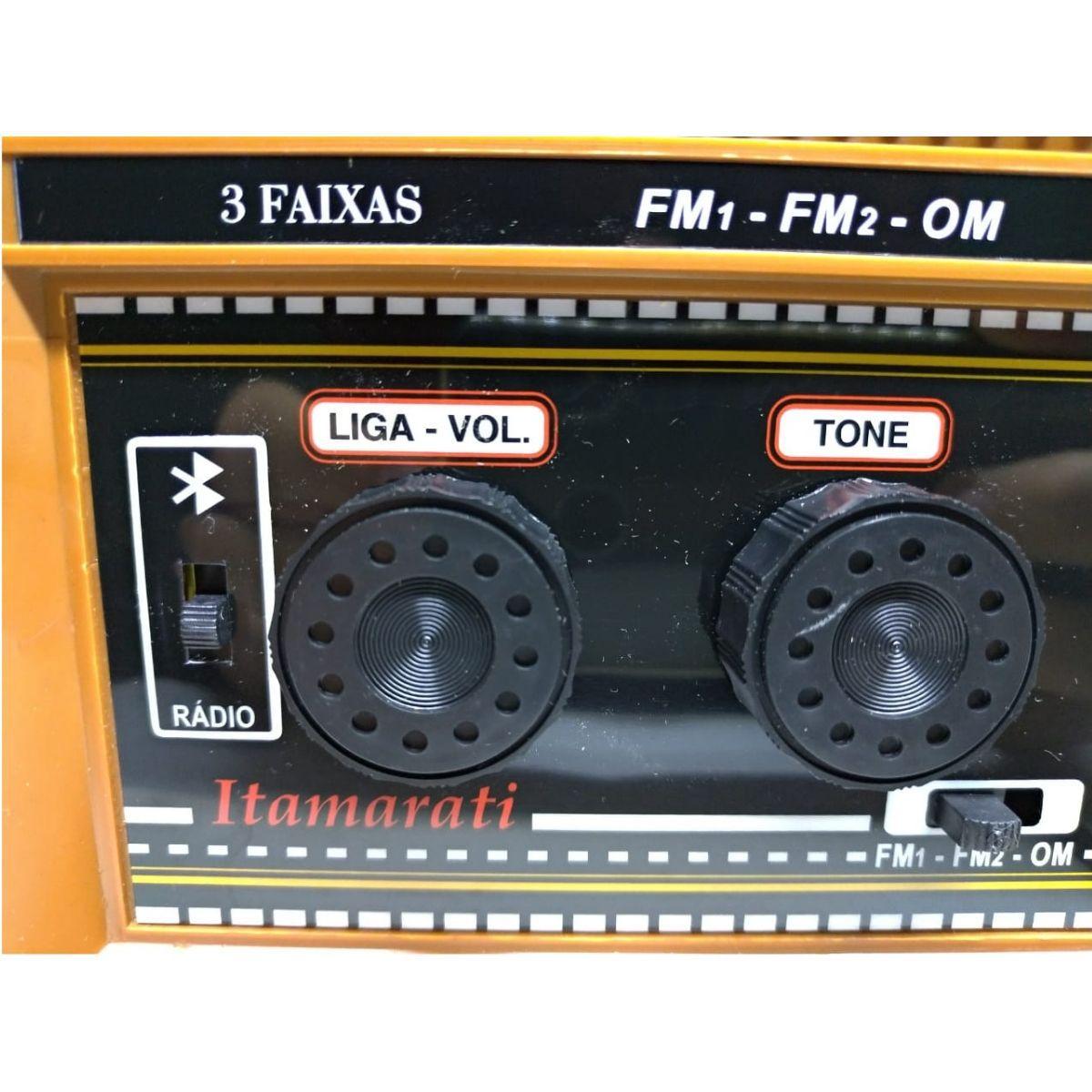 Rádio Companheiro USB De Mesa Itamarati USB 3 Faixas Com Entrada Auxiliar Para Ipod Mp3 USB e Bluetooth - CRMIF-32USB