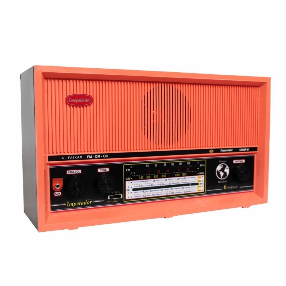Rádio de Mesa 6 Faixas Imperador Salmão - CRMIF61S