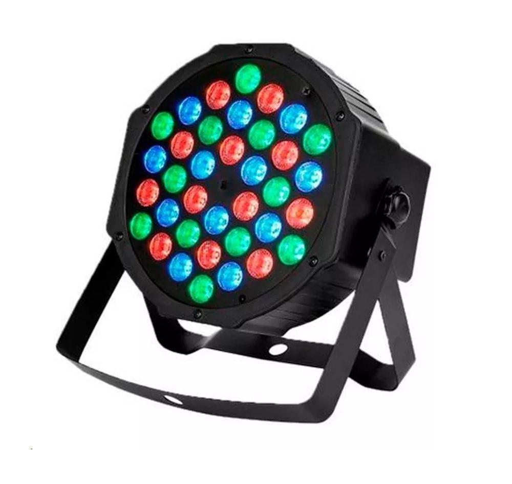 Canhão de Luz Led Par 64 RGB 36 Leds DMX Digital Strobo - HL-36P