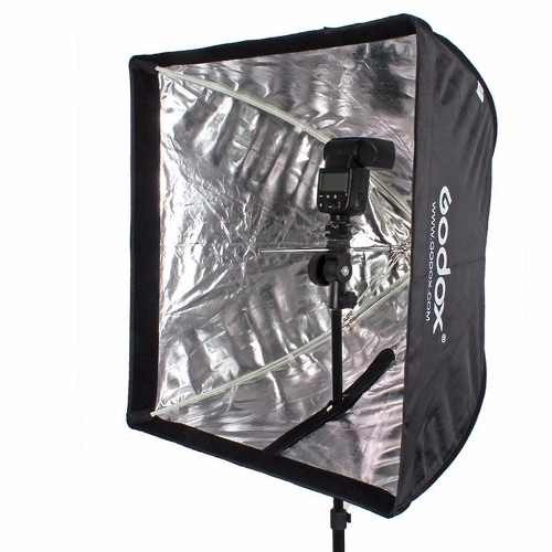 Softbox 60x60 Universal Para Flash Tocha E Luz Continua