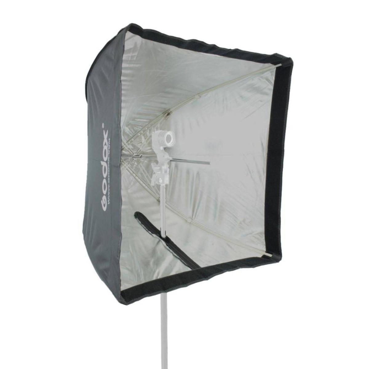 Softbox 60x60 Universal Para Flash Tocha E Luz Continua