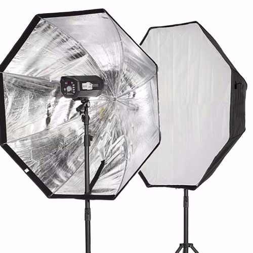 Kit Fotográfico Softbox Octabox Profissional Para Estúdio + Tripé Iluminação 2M St-803
