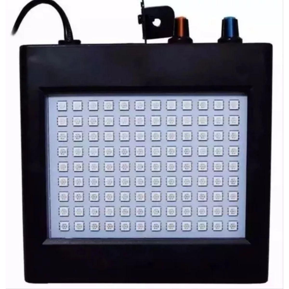 Strobo 108 Leds RGB 25W Rítmico Bivolt Automático - XH-108RGB