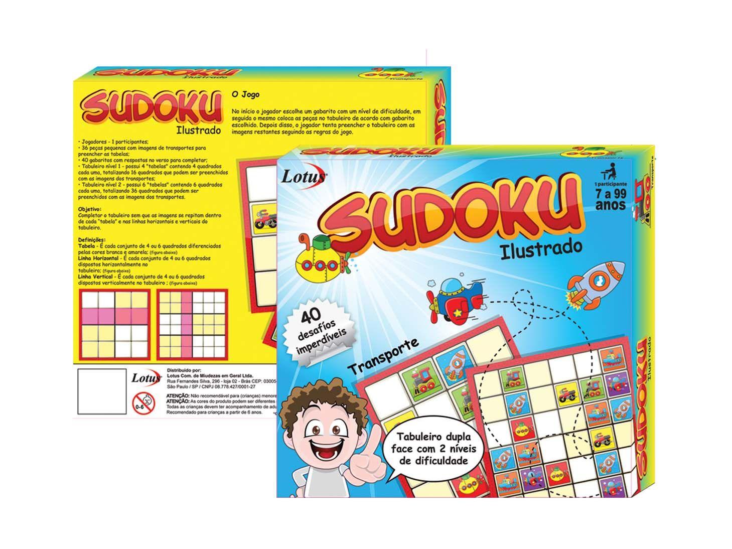 Sudoku Ilustrado Divertido Colorido - SK - 1156