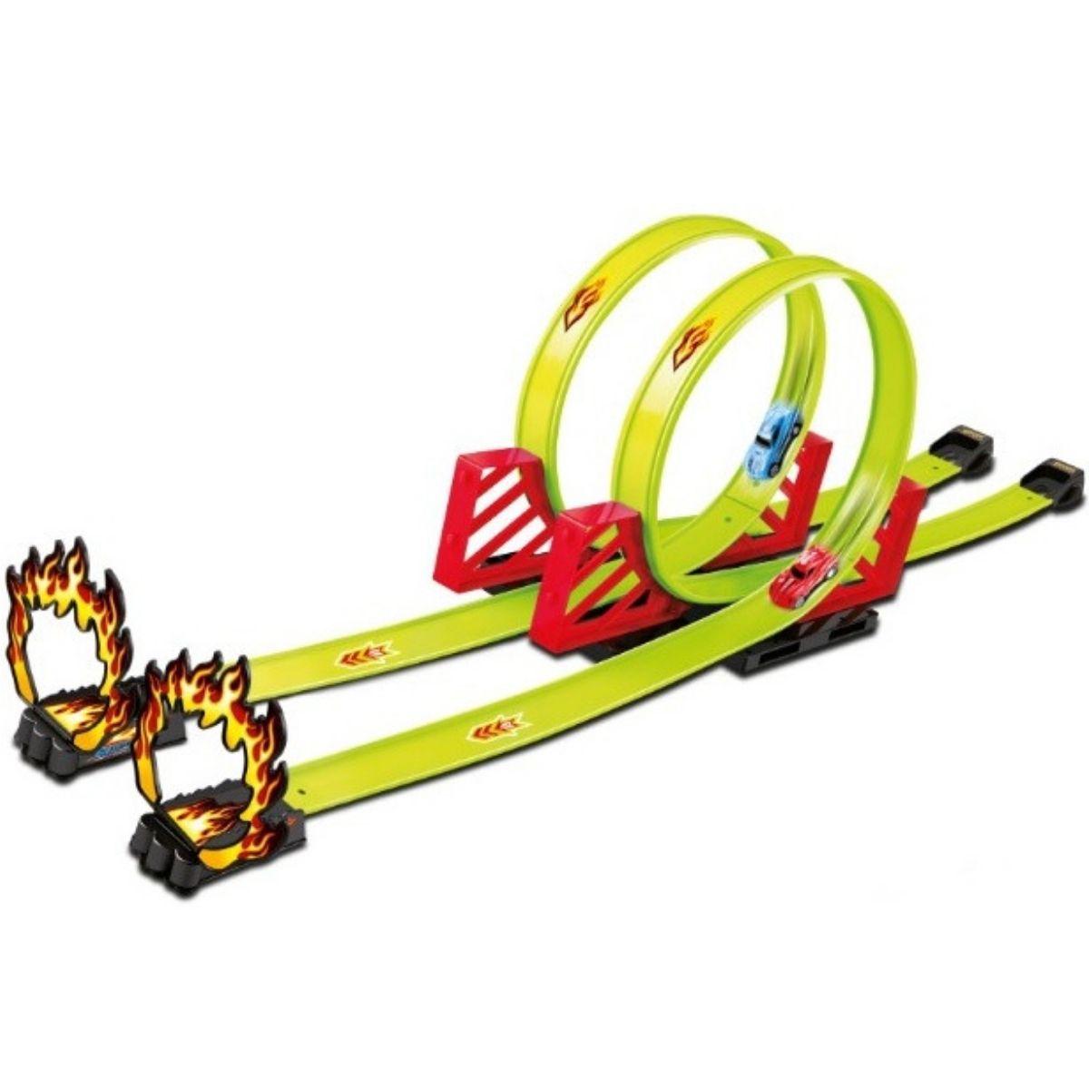 Super Pista De Corrida Looping 360º Com 2 Carros de Corrida - 68816