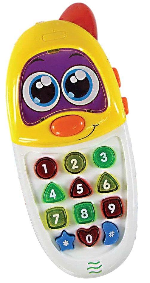 Telefone Celular Interativo Educativo Inglês e Português Brinquedo Infantil Colorido - 636 AMARELO