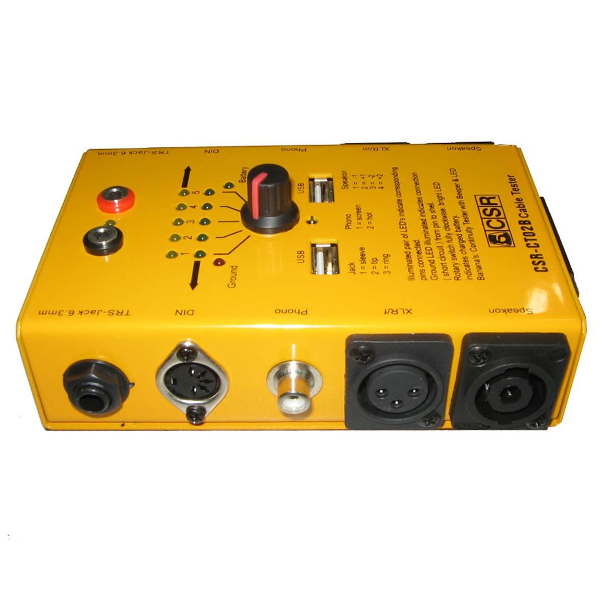 Testador De Cabos Áudio CSR - CT-02B