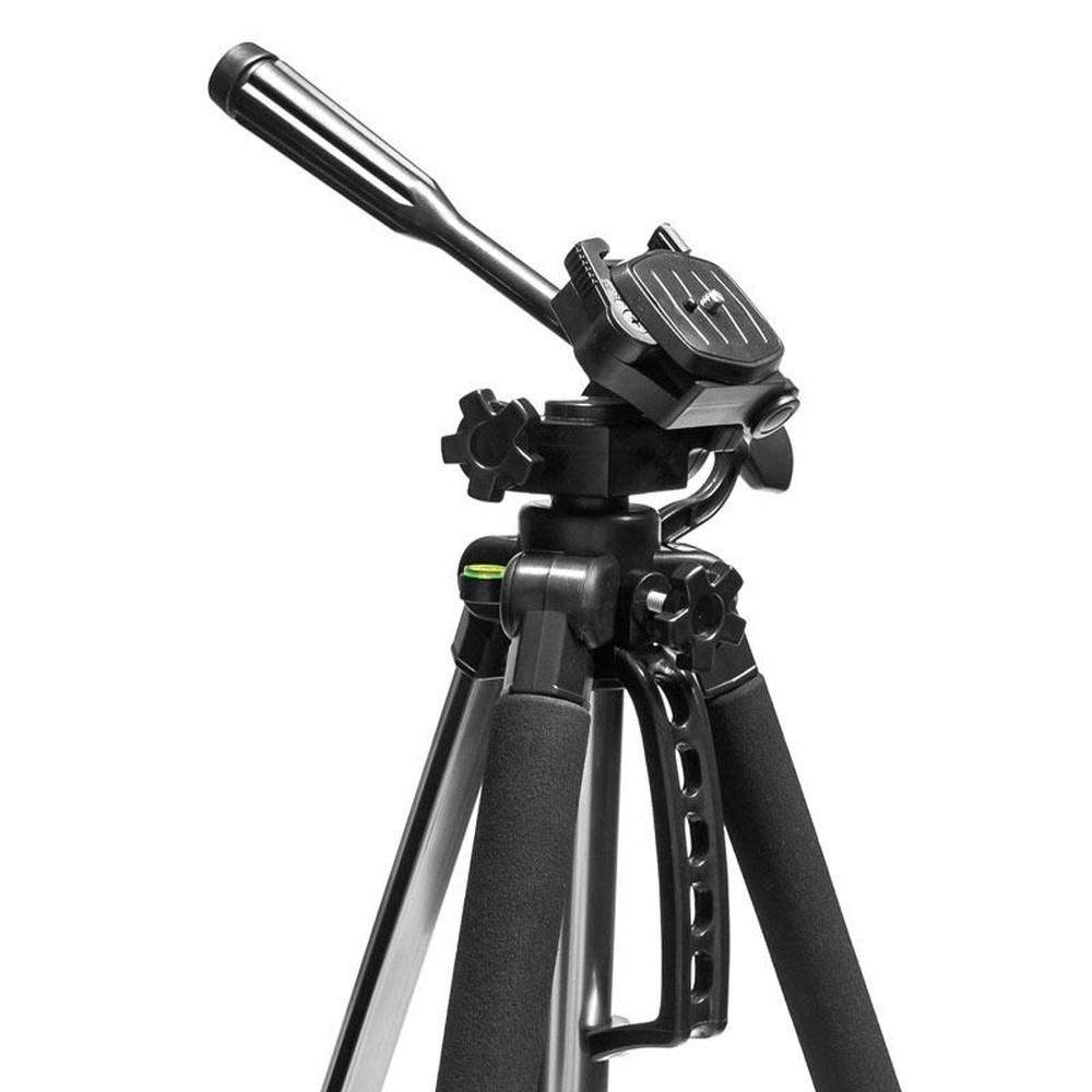 Tripé Fotográfico Profissional Telescópico Alumínio Com Suporte Celular 1,6m - BJ-1200