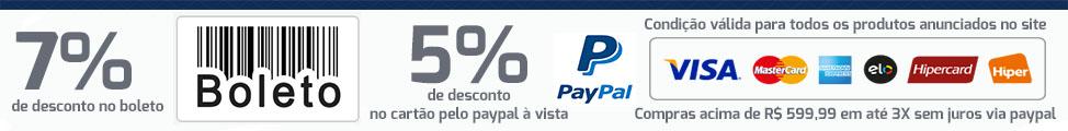 condições especiais pagamento à vista ou paypal