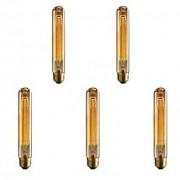 Cod.INCT30 Lâmpada Decorativa Filamento Carbono T30 E-27 40W (pack com 5 unidades)