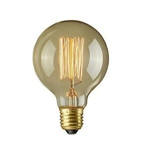 Cod.INCG80 Lâmpada  Decorativa Filamento Carbono G80 E-27 40W (pack com 5 unidades)   - lampadas.net