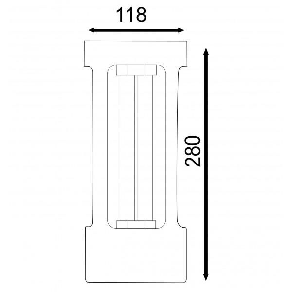 Cod.LUV1 Esterilizador para Desinfecção UV-C 35W  - lampadas.net