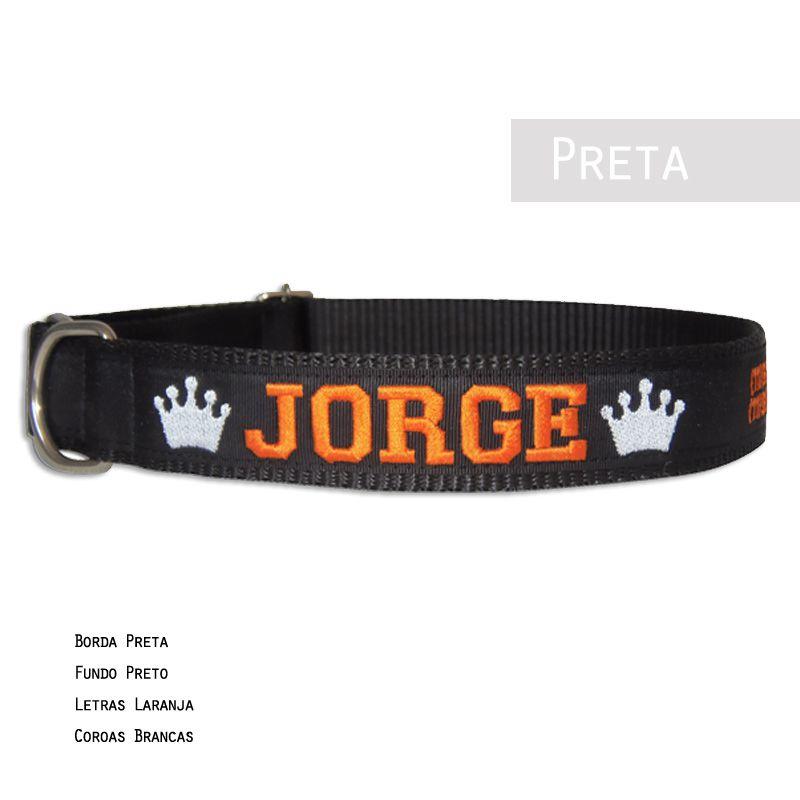 Coleira Identificação Cachorro Bordada com Nome e 2 Telefones - 01Coleira  - PetPatuá | Coleiras e Tags para Identificação
