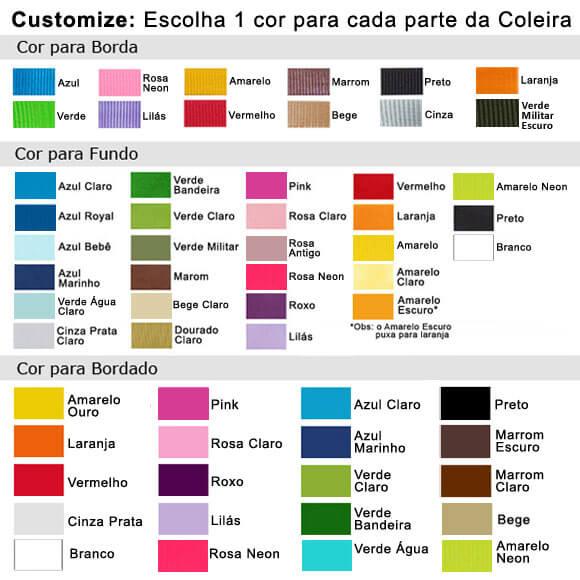 Coleira Identificação Personalizada Cachorro - 2cm -  PP /  P / M - Icones - Customize!  - PetPatuá | Coleiras e Tags para Identificação
