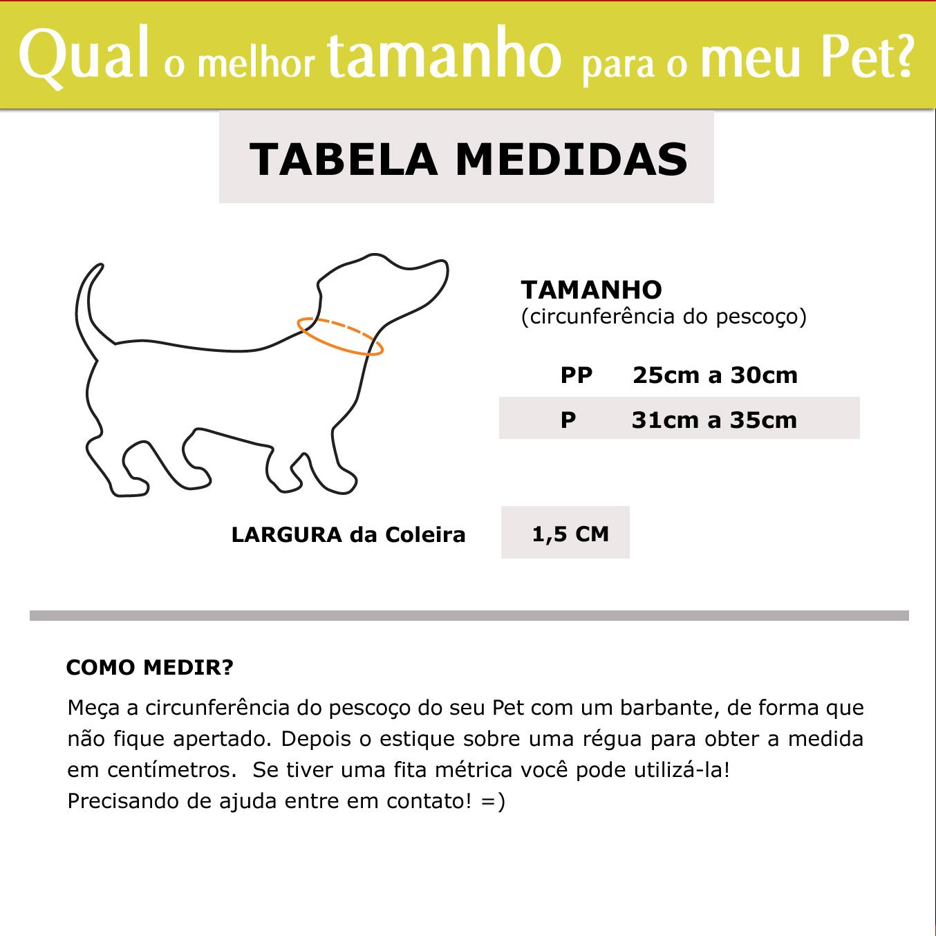 Coleira Identificação Personalizada Cachorro - Largura 1,5cm - PP / P - Icones  - PetPatuá   Coleiras e Tags para Identificação