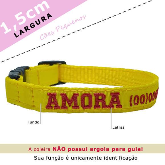 Coleira Identificação Personalizada Cachorro - Largura 1,5cm - XXP  - PetPatuá | Coleiras e Tags para Identificação