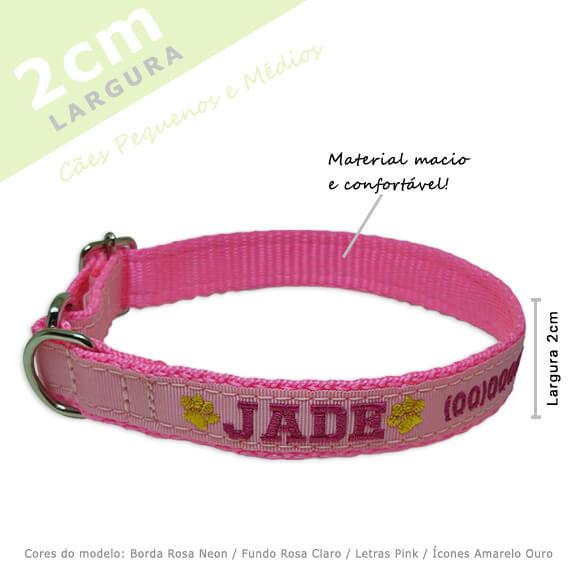 Coleira Identificação Personalizada Cachorro - Largura 2cm - PP /  P / M - Icones   - PetPatuá | Coleiras e Tags para Identificação