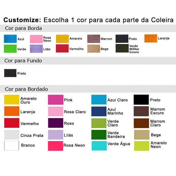 Coleira Identificação Personalizada Cachorro - Largura 2cm - PP /  P / M - Icones - Preta [01 COLEIRA]  - PetPatuá | Coleiras e Tags para Identificação