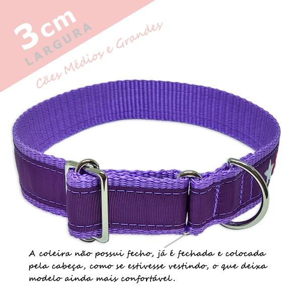 Coleira Identificação Personalizada Cachorro - Largura 3cm - M / G / GG - Icones - Preta [01 COLEIRA]  - PetPatuá | Coleiras e Tags para Identificação