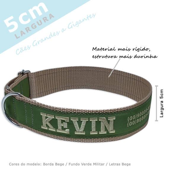 Coleira Identificação Personalizada Cachorro - Largura 5cm - G / GG - Grande Porte  - PetPatuá | Coleiras e Tags para Identificação