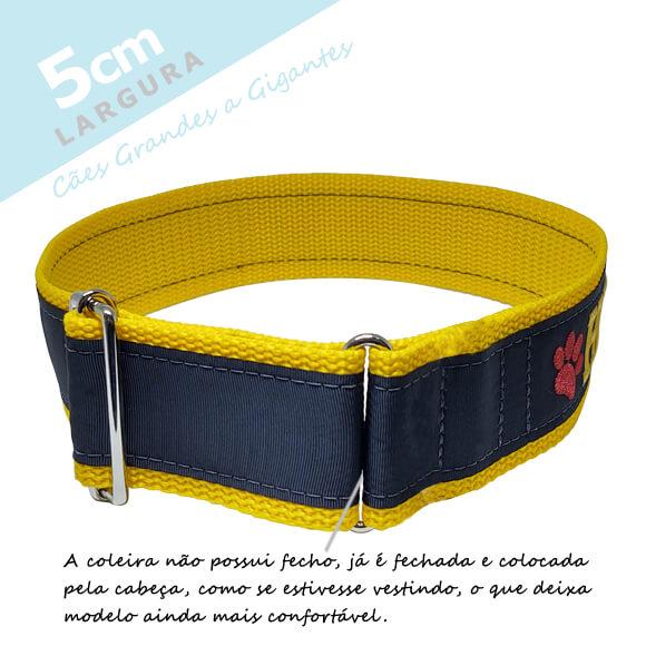 Coleira Identificação Personalizada Cachorro - Largura 5cm - Grande Porte - G1, G2, GG  - PetPatuá | Coleiras e Tags para Identificação