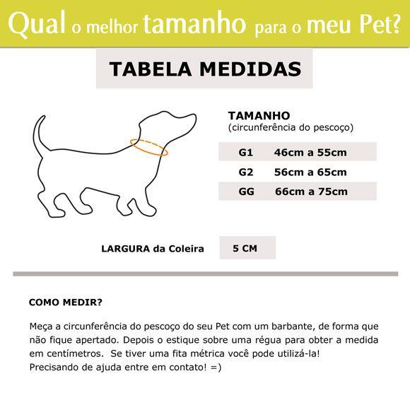 Coleira Identificadora Refletiva para cachorro Porte Gigante - 5cm  - G / GG - Ícones - Customize  - PetPatuá | Coleiras e Tags para Identificação