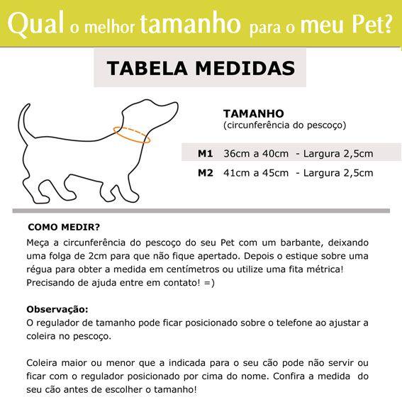 Coleira Identificação Personalizada Cachorro - 2,5cm - M - Customize!  - PetPatuá | Coleiras e Tags para Identificação