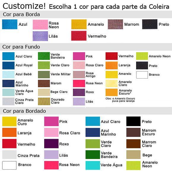 Coleira Personalizada Caes - 2,5cm - M - Icones - Customize!  - PetPatuá | Coleiras e TAGs para Identificação