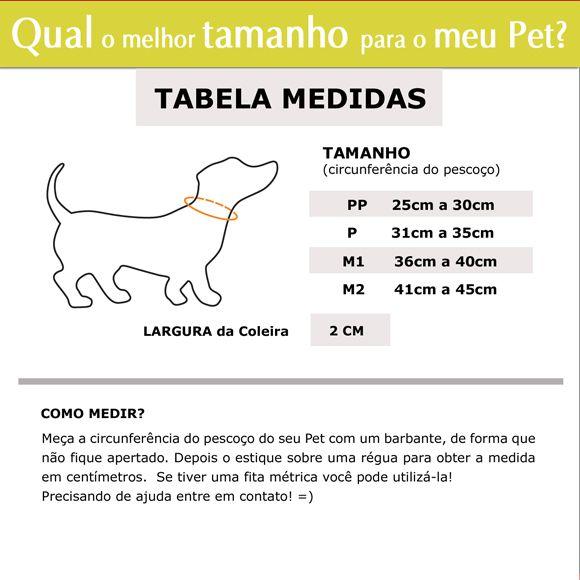 Coleira Identificadora Personalizada Cachorro - 2cm - PP / P / M - Customize!  - PetPatuá | Coleiras e Tags para Identificação