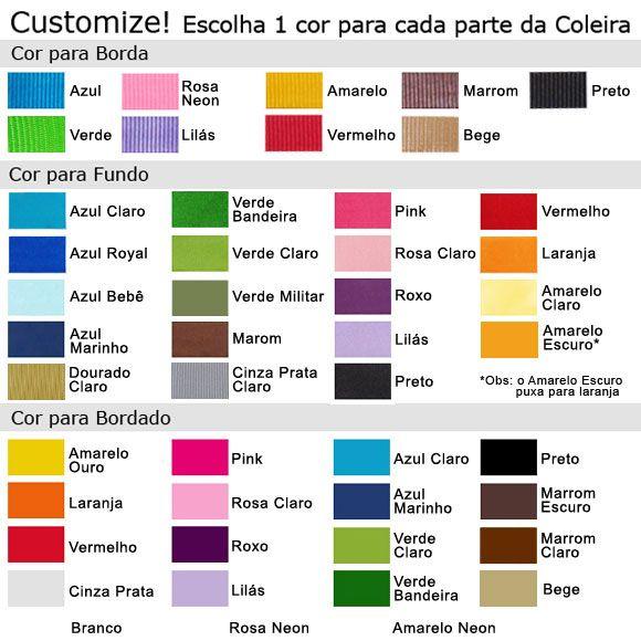 Coleira Personalizada Caes - 2cm -  PP /  P / M - Icones - Customize!  - PetPatuá   Coleiras de Identificação
