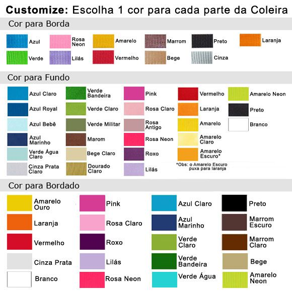 Coleira Personalizada Caes - 2cm -  PP /  P / M - Icones - Customize!  - PetPatuá | Coleiras e TAGs para Identificação