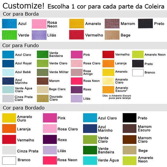 Coleira Personalizada Caes - 3cm - M / G / GG - Icones - Customize!  - PetPatuá | Coleiras de Identificação