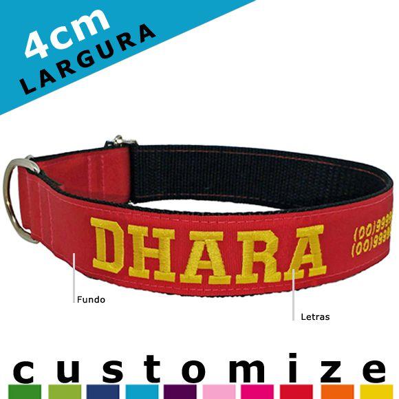 Coleira Identificação Personalizada Cachorro Grande Porte - 4cm - G / GG - Customize!  - PetPatuá | Coleiras e Tags para Identificação