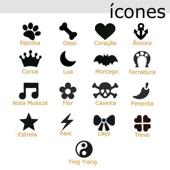 Coleira Personalizada Caes - 4cm - G / GG/ XXG - Icones - Customize!  - PetPatuá | Coleiras de Identificação