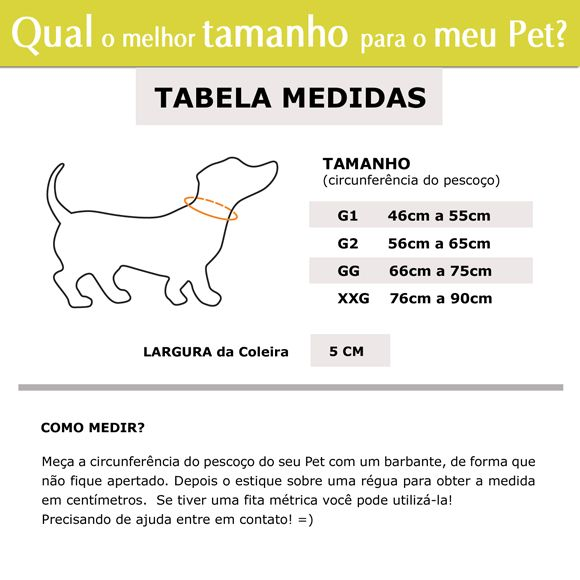 Coleira Identificador Personalizado Cachorro Porte Gigante - 5cm - G / GG - Icones - Customize!  - PetPatuá | Coleiras e Tags para Identificação