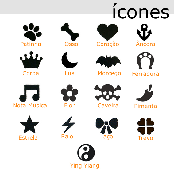 Coleira Identificação Cachorro - Largura 1,5cm - PP / P - Icones - Customize!  - PetPatuá | Coleiras de Identificação